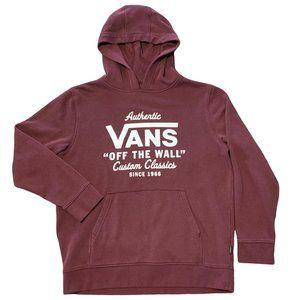 """Vans Sweatshirt Hoodie """"Off The Wall"""" Large L Red"""